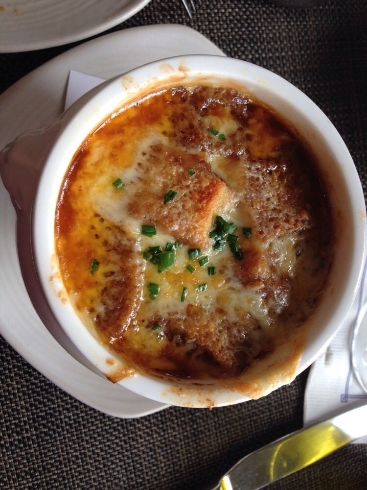 French onion soup with gruyere conservatory